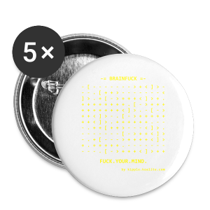 Brainfuck (Yellow) - Buttons small 25 mm