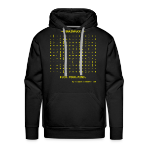 Brainfuck (Yellow) - Men's Premium Hoodie