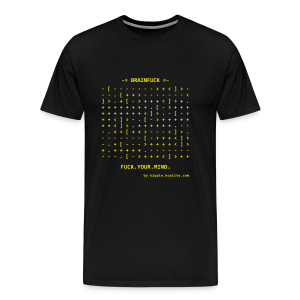 Brainfuck (Yellow) - Men's Premium T-Shirt