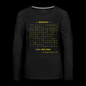 Brainfuck (Yellow) - Women's Premium Longsleeve Shirt
