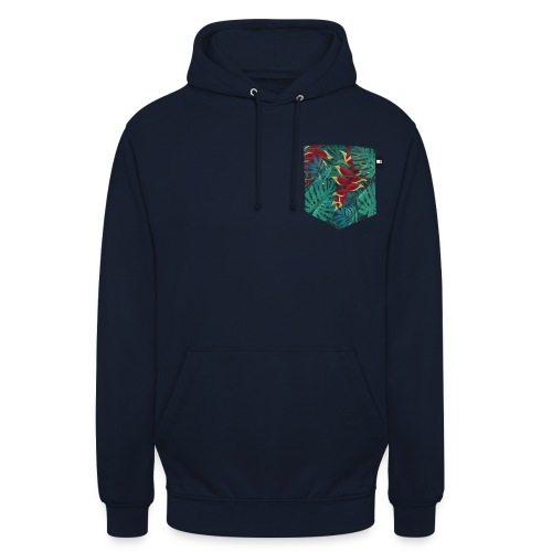effet pocket parrot - Sweat-shirt à capuche unisexe