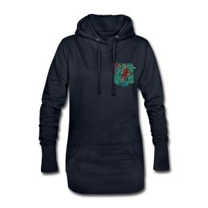 effet pocket parrot - Sweat-shirt à capuche long Femme