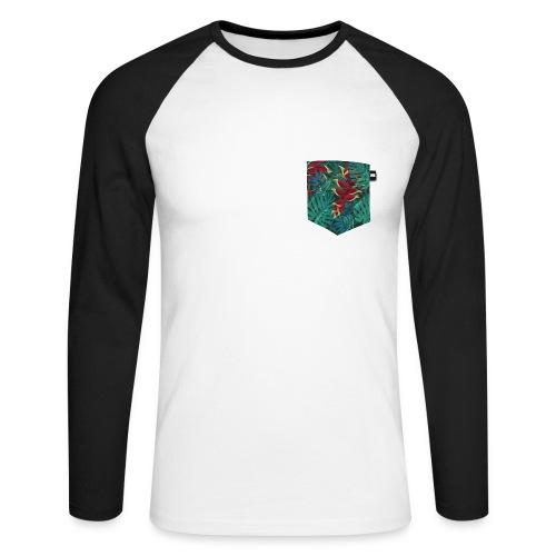 effet pocket parrot - T-shirt baseball manches longues Homme