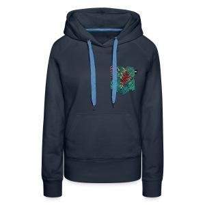 effet pocket parrot - Sweat-shirt à capuche Premium pour femmes