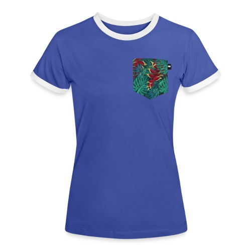 effet pocket parrot - T-shirt contrasté Femme