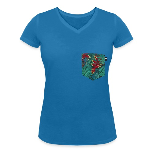 effet pocket parrot - T-shirt bio col V Stanley & Stella Femme