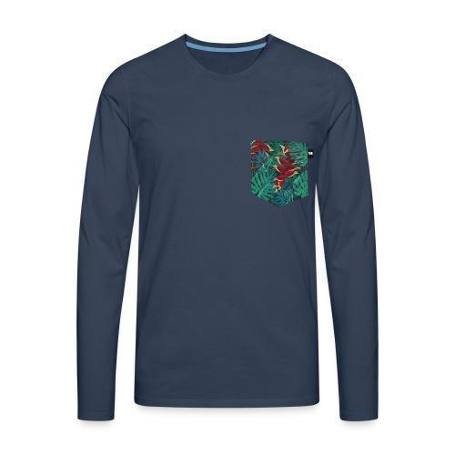 effet pocket parrot - T-shirt manches longues Premium Homme