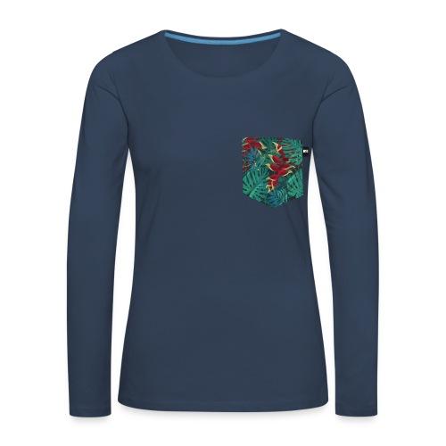 effet pocket parrot - T-shirt manches longues Premium Femme