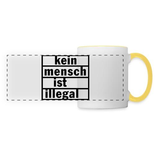 kein Mesch ist illegal - Panoramatasse