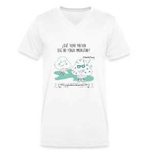 Madalenas y Marketing - Camiseta ecológica hombre con cuello de pico de Stanley & Stella
