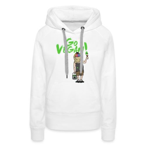 GO VEGAN - Frauen Premium Hoodie