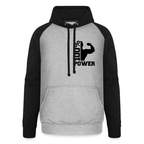 Womans Power Fleece Jacket - Unisex Baseball Hoodie