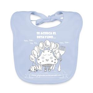 Se acerca el Desayuno... (white/kid) - Babero ecológico bebé