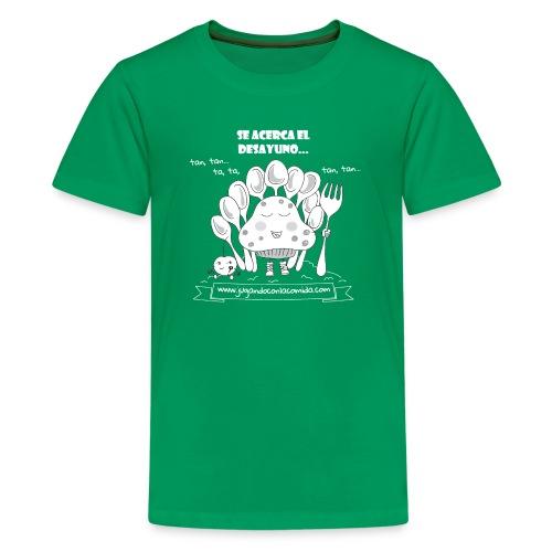 Se acerca el Desayuno... (white/kid) - Camiseta premium adolescente