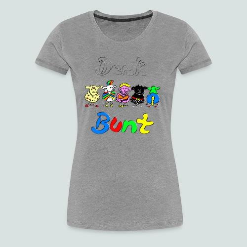 Denk bunt Schafe - Frauen Premium T-Shirt