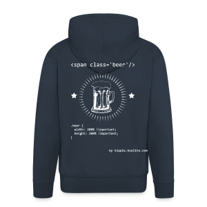 CSS Beer - Men's Premium Hooded Jacket