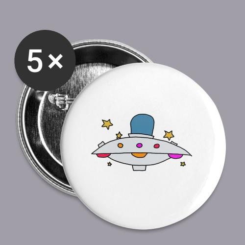 Ufo - Buttons klein 25 mm (5er Pack)