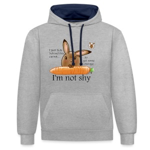 Women's T-shirt: I'm not shy - Contrast Colour Hoodie