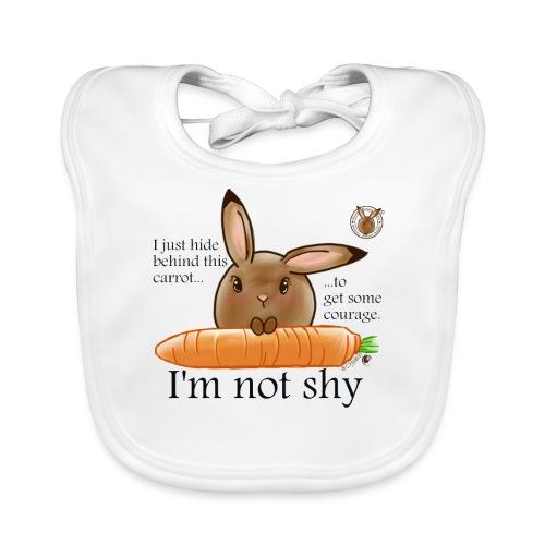 Women's T-shirt: I'm not shy - Baby Organic Bib