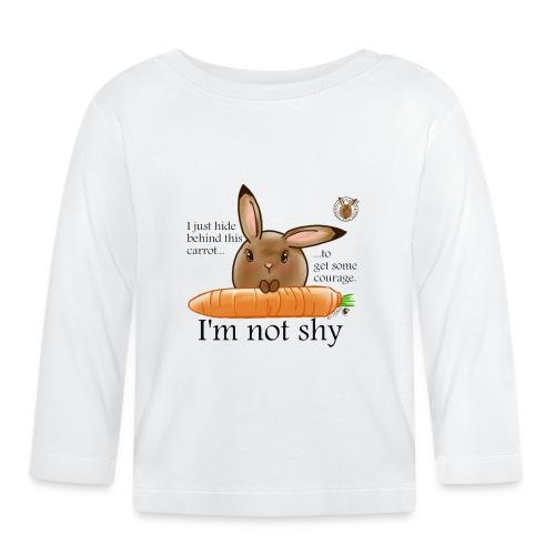 Women's T-shirt: I'm not shy - Baby Long Sleeve T-Shirt