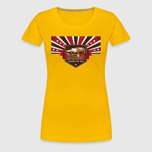 American Car Lover - Dame premium T-shirt