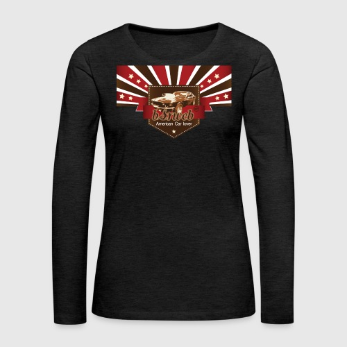 American Car Lover - Dame premium T-shirt med lange ærmer