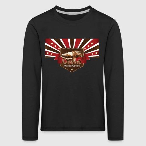 American Car Lover - Børne premium T-shirt med lange ærmer