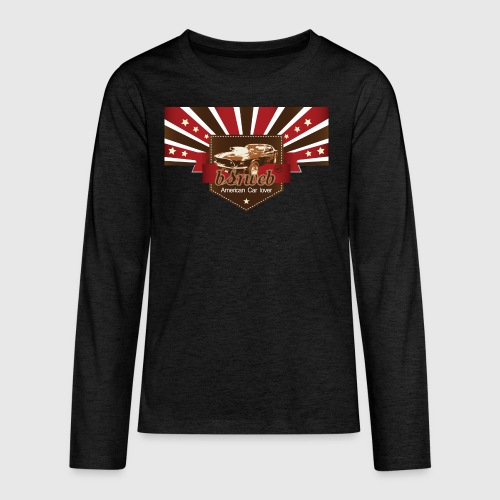 American Car Lover - Teenager premium T-shirt med lange ærmer