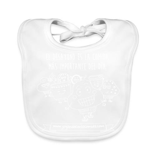El Desayuno (white) - Babero ecológico bebé