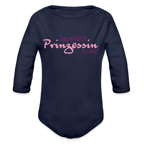 Nenn mich einfach Prinzessin - Baby Bio-Langarm-Body