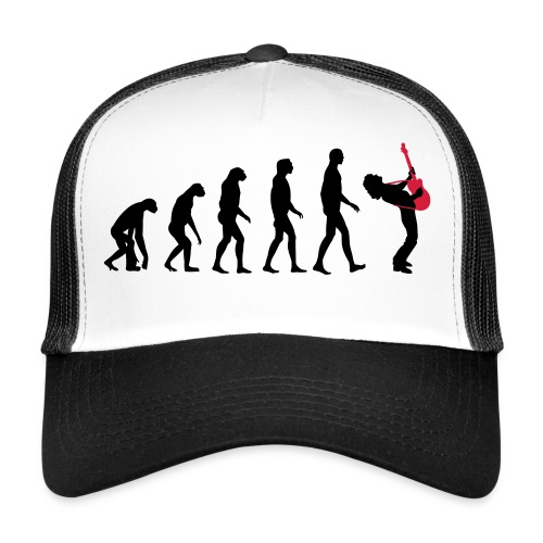 The Evolution Of Rock Tee - mens - Trucker Cap