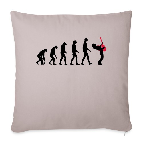 The Evolution Of Rock Tee - mens - Sofa pillowcase 17,3'' x 17,3'' (45 x 45 cm)