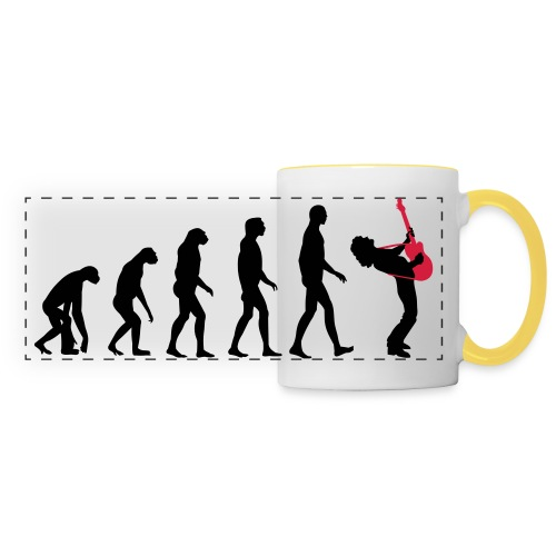 The Evolution Of Rock Tee - mens - Panoramic Mug