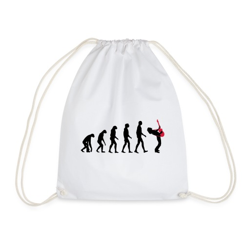 The Evolution Of Rock Tee - mens - Drawstring Bag