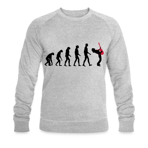 The Evolution Of Rock Tee - mens - Men's Organic Sweatshirt by Stanley & Stella