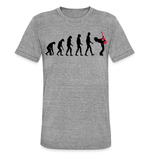 The Evolution Of Rock Tee - mens - Unisex Tri-Blend T-Shirt by Bella & Canvas
