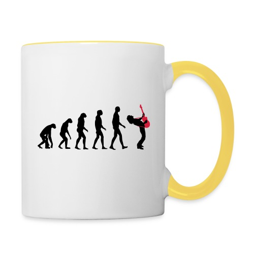 The Evolution Of Rock Tee - mens - Contrasting Mug