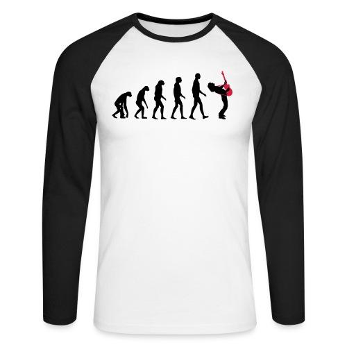 The Evolution Of Rock Tee - mens - Men's Long Sleeve Baseball T-Shirt