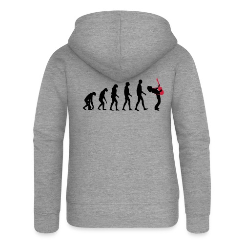 The Evolution Of Rock Tee - mens - Women's Premium Hooded Jacket