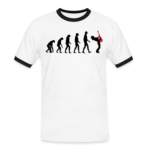 The Evolution Of Rock Tee - mens - Men's Ringer Shirt