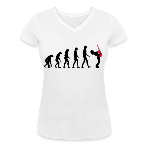 The Evolution Of Rock Tee - mens - Women's Organic V-Neck T-Shirt by Stanley & Stella