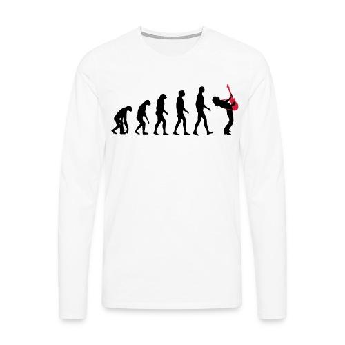The Evolution Of Rock Tee - mens - Men's Premium Longsleeve Shirt