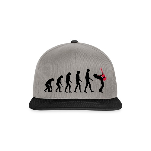 The Evolution Of Rock Tee - mens - Snapback Cap