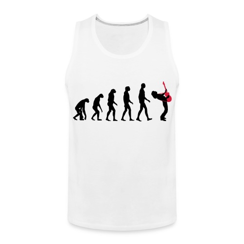 The Evolution Of Rock Tee - mens - Men's Premium Tank Top