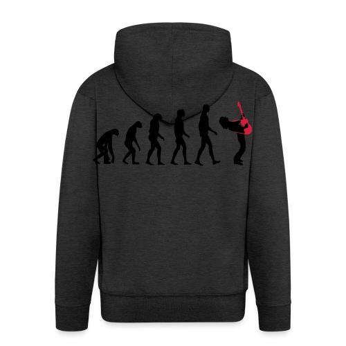 The Evolution Of Rock Tee - mens - Men's Premium Hooded Jacket