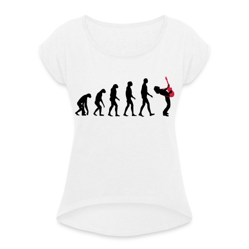 The Evolution Of Rock Tee - mens - Women's T-Shirt with rolled up sleeves