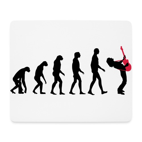 The Evolution Of Rock Tee - mens - Mouse Pad (horizontal)