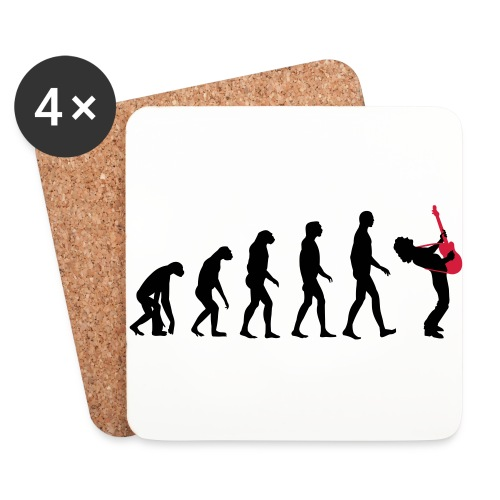 The Evolution Of Rock Tee - mens - Coasters (set of 4)