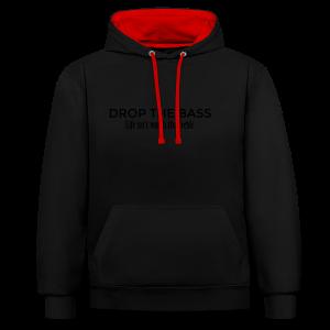 Drop the Bass Hoodie (Schwarz) - Kontrast-Hoodie