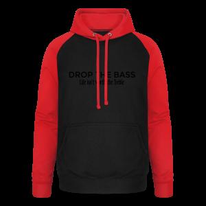 Drop the Bass Hoodie (Schwarz) - Unisex Baseball Hoodie